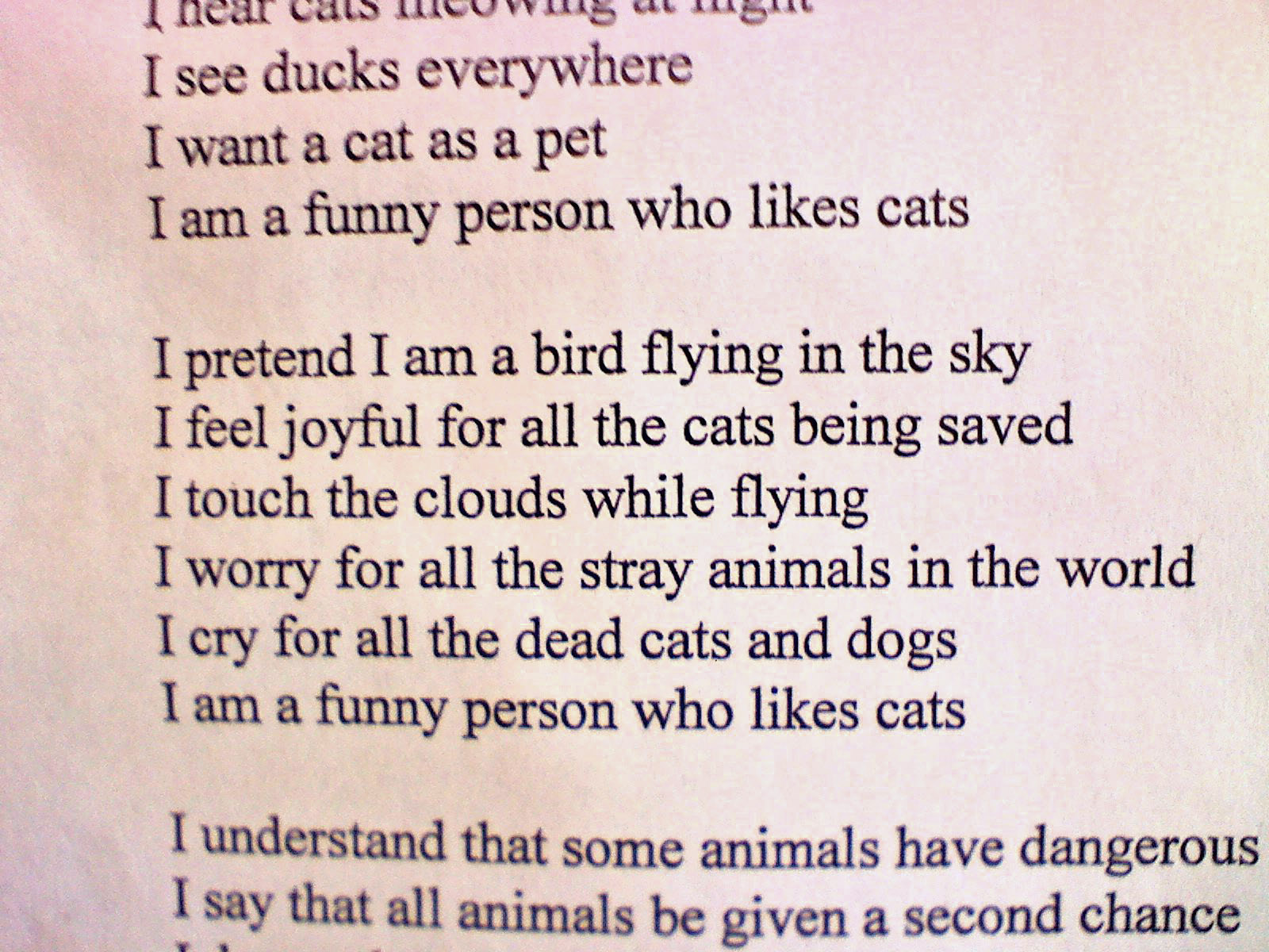 Funny 8 Stanza Poems #14